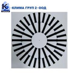 Таванни вентилационни решетки с пластмасови жалузи DS-S & DS-R