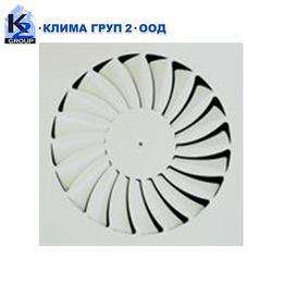 Таванни вентилационни завихрящи дифузори CDN-S & CDN-R