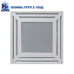 Таванна вентилационна решетка тип касета CAS