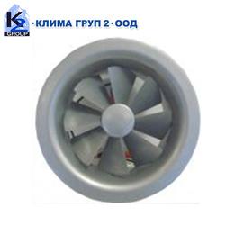 Таванни кръгли вентилационни решетки с промяна наклона на изтичане SRD