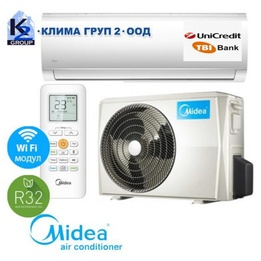 Midea MA-12NXD0-I BLANC A++ R32 с включен стандартен монтаж + подарък WiFi контролер
